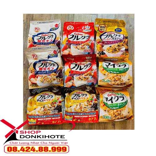 9 Loại Ngũ cốc calbee Nhật Bản chính hãng giá uy tín cạnh tranh