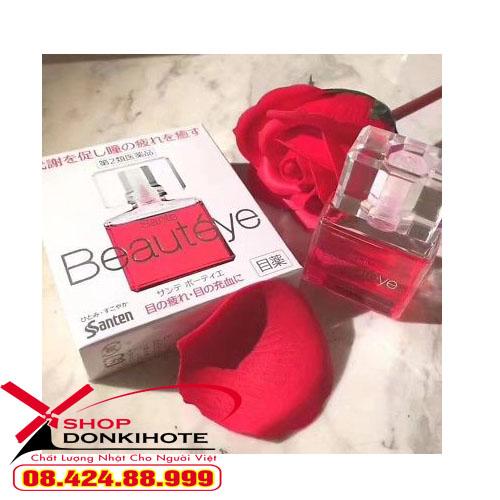 Thuốc nhỏ mắt Beauteye Sante Nhật Bản màu đỏ giúp đôi mắt khỏe mạnh