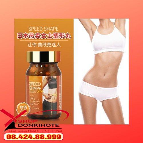 Viên uống giảm mỡ bụng Speed Shape Plus Cut and Block của Nhật chính hãng