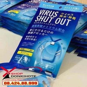 Thẻ đeo chống virus Toamit Virus Shut Out ngăn chặn virut chính hãng giá rẻ