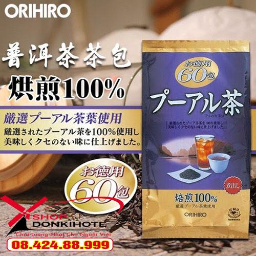 Trà giảm cân Puer ORIHIRO Nhật Bản chính hãng