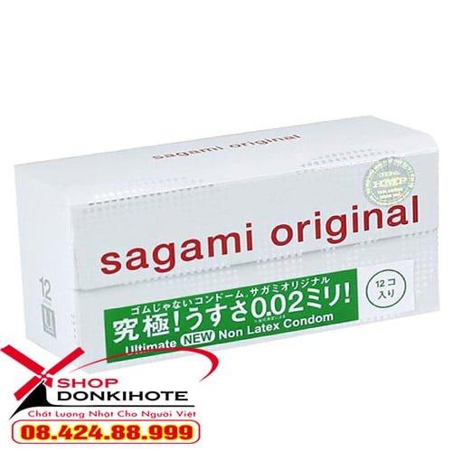 Bao cao su Sagami original 0.02 màu xanh lá cho cuộc yêu thêm nồng nàn