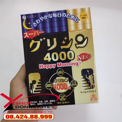 Bột ngủ ngon cao cấp – Super Glycine 4000 Happy Morning nhật bản chính hãng giá tốt tại Hà Nội