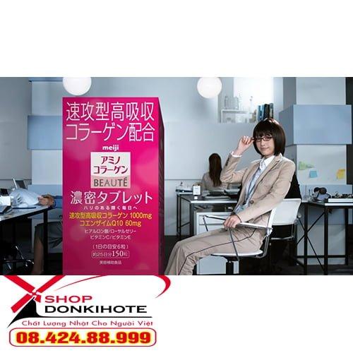 Viên uống Collagen meiji beaute viên hộp 150 viên của nhật giúp trẻ hóa làn da