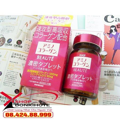 Viên uống Collagen meiji beaute viên hộp 150 viên đang rất được ưa chuộng