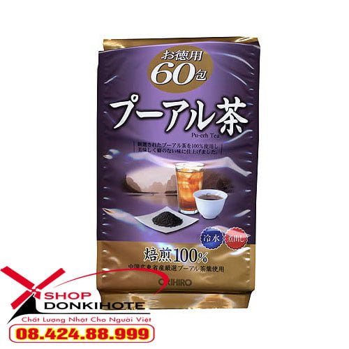 Trà giảm cân Puer ORIHIRO Nhật Bản mua tại donkivn.com