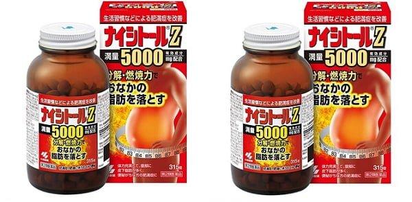 Viên uống Naishitoru Kobayashi Z5000 Nhật Bản đánh tan mỡ bụng cho quý ông
