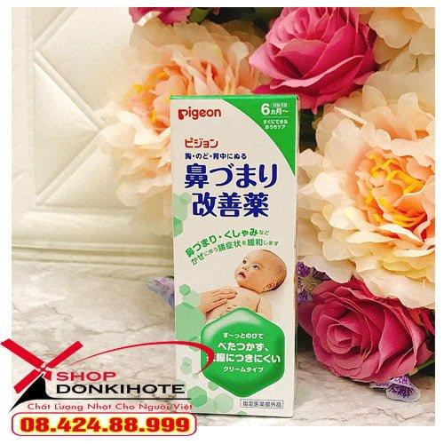 Kem bôi ấm ngực pigeon 50gr Nhật Bản sản phẩm tốt cho mẹ và bé