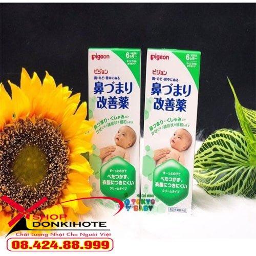 Kem bôi ấm ngực pigeon 50gr Nhật Bản an toàn hiệu quả chính hãng
