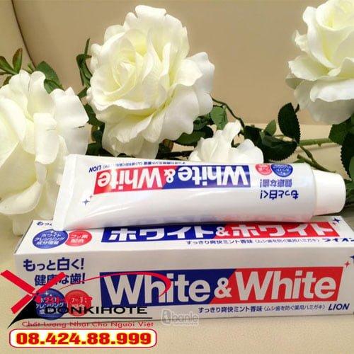 Kem đánh răng white&white Nhật Bản trắng răng ngay sau 1 tuần