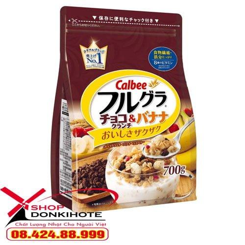 Ngũ cốc Calbee Nhật Bản vị chocola ngon tuyệt