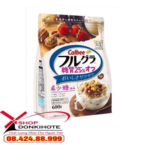 Ngũ cốc Calbee Nhật Bản vị óc chó đầy đủ dinh dưỡng và dưỡng chất tốt cho cơ thể
