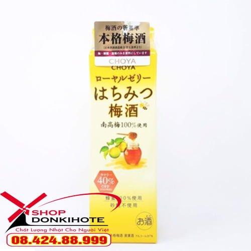 Rượu mơ Choya mơ Nhật hộp giấy 1000ml