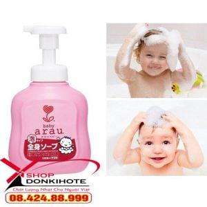 sữa tắm arau có dùng được cho trẻ sơ sinh