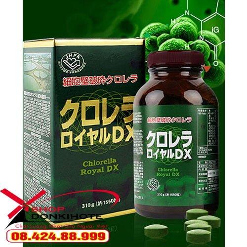 viên uống Tảo lục Chlorella Royal DX đang được ưa chuộng tại Nhật