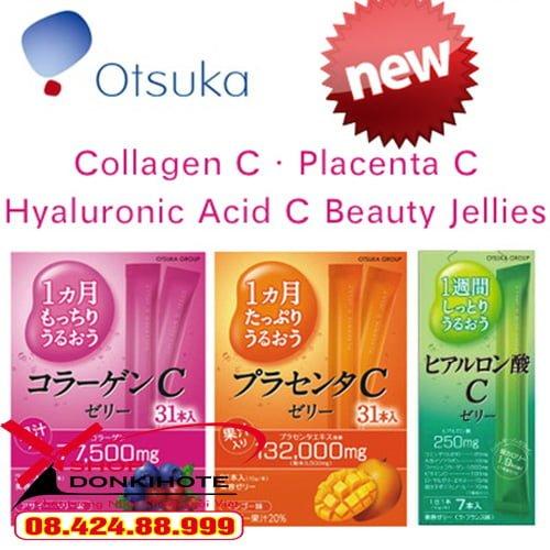 Thạch Collagen Otsuka Skin C Japan Placenta Jelly với vẻ ngoài bắt mắt