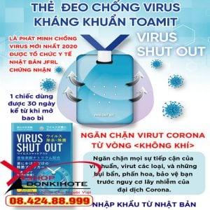 Thẻ đeo chống virus Toamit Virus Shut Out ngăn chặn virut