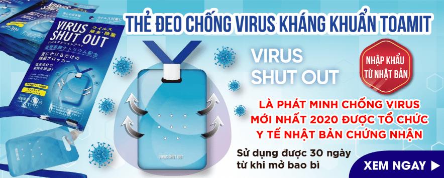 Thẻ đeo virut kháng khuẩn nhật bản