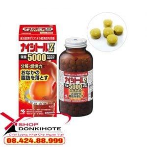 Viên uống Naishitoru Kobayashi Z5000 Nhật Bản giảm mỡ bụng nhanh an toàn