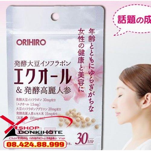 Viên uống nội tiết Orihiro Equol Nhật Bản trẻ hóa làn da cho phái nữ