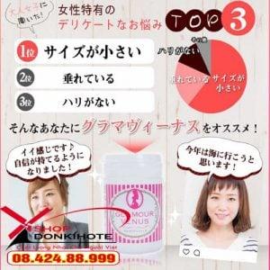 Viên uống Glamour Venus Pueraria Nhật Bản cải thiện nội tiết tố và tăng ham muốn