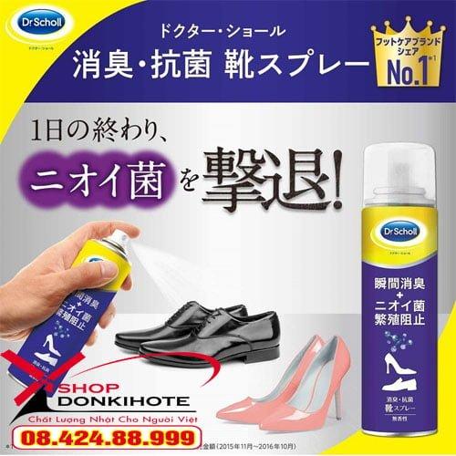 Xịt khử mùi hôi đi giày Nhật Bản thông thoáng dễ chịu giúp bạn tự tin hằng ngày