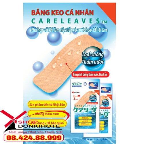 Băng cá nhân Nichiban Careleaves Nhật Bản giá rẻ toàn quốc chống thấm nước