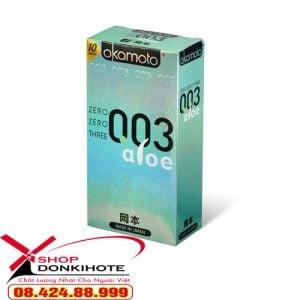 Bao cao su siêu mỏng Okamoto 0.03mm Nhật Bản chính hãng với chất liệu từ mủ cao su tự nhiên