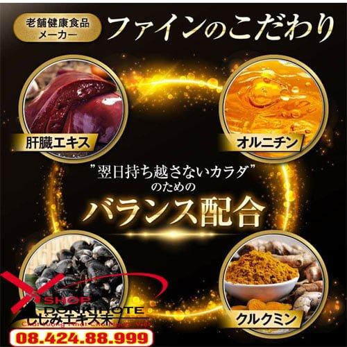 Hãy sử dụng Viên bổ gan chiết suất nghệ và hến Fine Nhật Bản