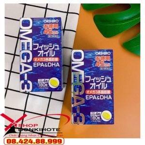 Viên uống Omega-3 Orihiro 180 viên Nhật Bản bổ mắt chính hãng uy tín số 1 tại donkivn.com