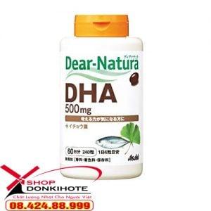 Viên uống DHA DEAR NATURA ASAHI 500MG hộp 240 viên bổ não được ví như là sản phẩm trường thọ đến từ Nhật