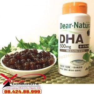 Viên uống DHA DEAR NATURA ASAHI 500MG hộp 240 viên Nhật Bản bổ não được chiết xuất hoàn toàn từ tự nhiên