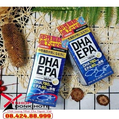 Bổ Não DHA EPA Orihiro Nhật Bản bổ sung DHA, EPA rất tốt cho mắt và não bộ