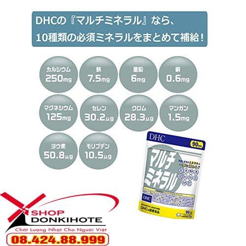 Viên uống bổ sung đa khoáng chất Multi Mineral DHC giá tốt nhất tại Thành Phố Hồ chí Minh