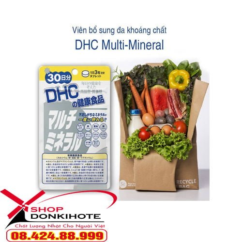 Viên uống Multi Minerals DHC Nhật Bản bổ sung khoáng chất chứa nhiều Magie