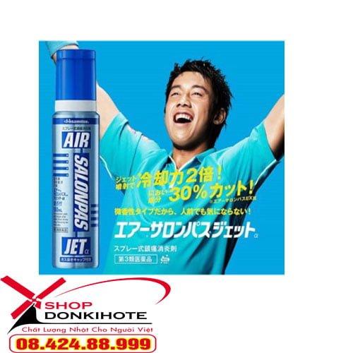 Chai xịt giảm đau Salonpas Air Jet Hisamitsu 150 ml Nhật Bản giúp đánh bay cơn đau nhức