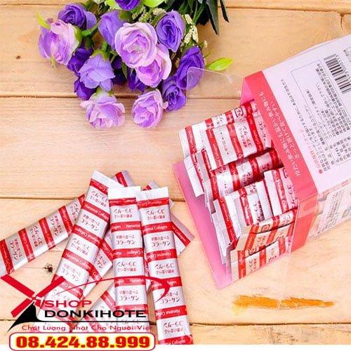 Bột Collagen hanamai da cá hộp 30 gói Nhật Bản giá cạnh tranh nhất tại Hà Nội