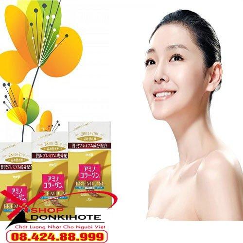 Thành phần trong bột collagen meiji premium 5000mg có tác dụng gì?