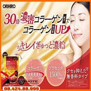 Collagen nhau thai heo orihiro 60000mg túi 120 gr Nhật Bản giúp các chị em làm đẹp da, cân bằng vóc dáng