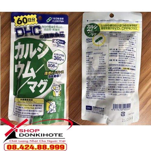 Viên uống bổ sung canxi DHC 60 ngày Nhật Bản là sản phẩm chức năng mới nhất của DHC