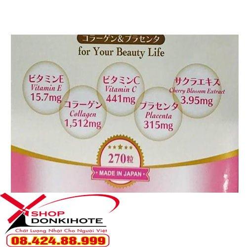 Viên uống collagen placenta 270 viên giá bao nhiêu tiền