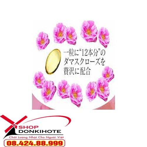 Viên uống thơm Beauty Rose Crystal Nhật Bản với 100% thành phần từ thiên nhiên