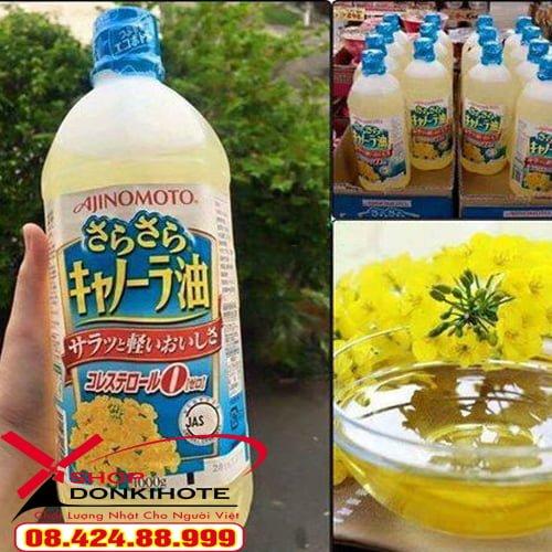 Dầu ăn hạt cải Ajinomoto có thành phần từ thiên nhiên, đạt tiêu chuẩn dầu ăn tốt cho sức khỏe