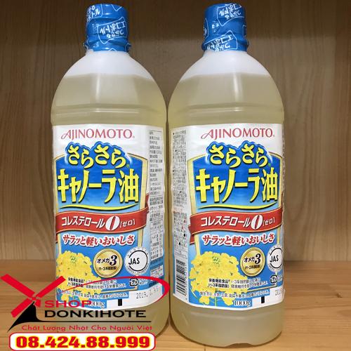 Dầu ăn hạt cải Ajinomoto thay thế những sản phẩm dầu ăn thông thường, đảm bảo sức khỏe cho cả nhà