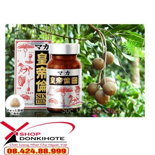 Viên uống Maka Sixteen của Nhật Bản chính hãng còn chứa rất nhiều thành phần