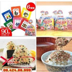 Gia vị rắc cơm túi 30 gói 6 vị Nhật Bản là sản phẩm an toàn cho hệ tiêu hóa non yếu của trẻ