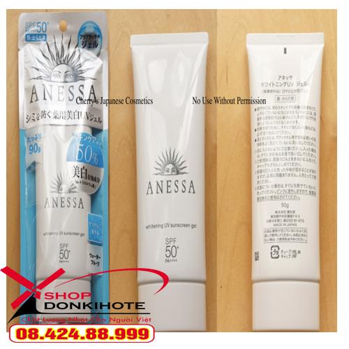 Kem Chống Nắng Anessa Whitening UV Sunscreen Gel có Spf 50+ Pa++++ đồng nghĩa với khả năng chống lại tia UV, cực tím rất cao.