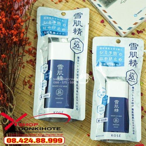 Chống nắng cho da dầu white uv milk chính hãng giúp chị em tự tin tỏa sáng ngày hè nắng nóng liên hệ tư vấn tại donkivn.com