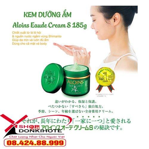 Kem Dưỡng Da Toàn Thân Lô Hội Aloins Kem Xanh Aloins Nhật Bản thành phần tự nhiên từ lô hội