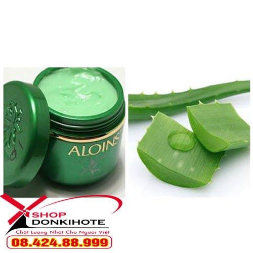 Trong kem lô hội Aloins kem xanh Aloins Nhật Bản dưỡng da toàn thân có thành phần dưỡng ẩm